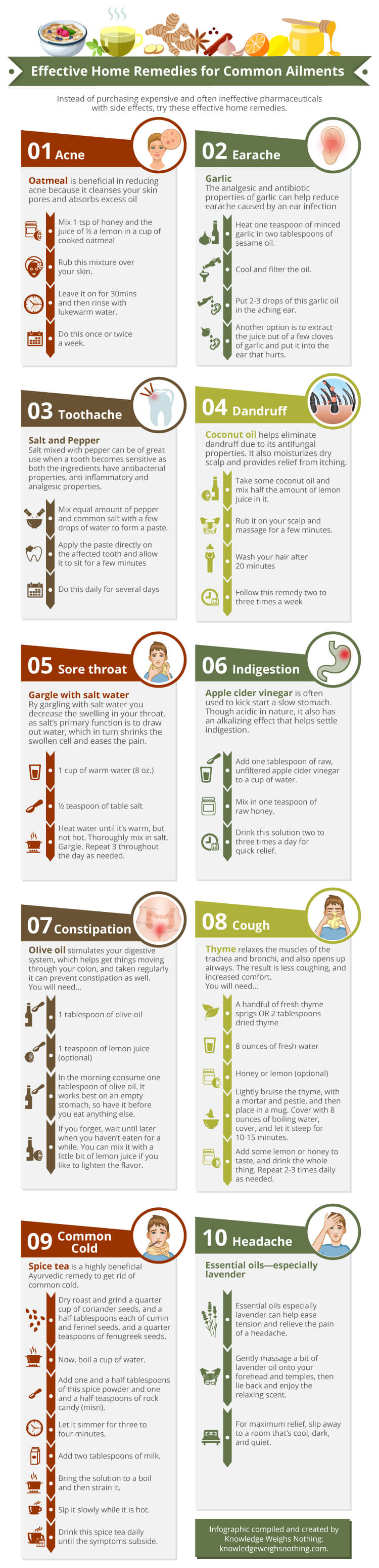 natural home remedics infographic